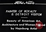 Image of Hapsburg Artist Detroit Michigan USA, 1934, second 7 stock footage video 65675038939