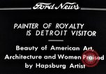 Image of Hapsburg Artist Detroit Michigan USA, 1934, second 8 stock footage video 65675038939