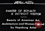 Image of Hapsburg Artist Detroit Michigan USA, 1934, second 9 stock footage video 65675038939