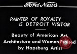 Image of Hapsburg Artist Detroit Michigan USA, 1934, second 10 stock footage video 65675038939
