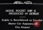 Image of rocket ship Detroit Michigan USA, 1934, second 3 stock footage video 65675038940