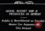 Image of rocket ship Detroit Michigan USA, 1934, second 8 stock footage video 65675038940