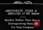 Image of pet show Detroit Michigan USA, 1934, second 7 stock footage video 65675038941