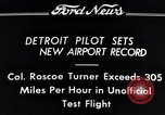 Image of Colonel Roscoe Turner Detroit Michigan USA, 1934, second 2 stock footage video 65675038942