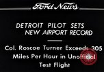 Image of Colonel Roscoe Turner Detroit Michigan USA, 1934, second 9 stock footage video 65675038942