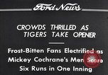 Image of Tiger Stadium Detroit Michigan USA, 1934, second 4 stock footage video 65675038943