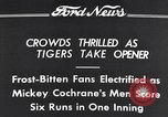 Image of Tiger Stadium Detroit Michigan USA, 1934, second 6 stock footage video 65675038943