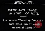 Image of Turtle race Detroit Michigan USA, 1934, second 9 stock footage video 65675038945
