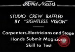 "Image of Magician Dr. Harlan Tarbell demonstrates ""eyeless vision"" Detroit Michigan USA, 1934, second 1 stock footage video 65675038946"
