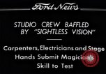 "Image of Magician Dr. Harlan Tarbell demonstrates ""eyeless vision"" Detroit Michigan USA, 1934, second 2 stock footage video 65675038946"
