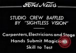 "Image of Magician Dr. Harlan Tarbell demonstrates ""eyeless vision"" Detroit Michigan USA, 1934, second 5 stock footage video 65675038946"