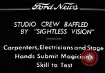 "Image of Magician Dr. Harlan Tarbell demonstrates ""eyeless vision"" Detroit Michigan USA, 1934, second 6 stock footage video 65675038946"