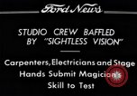 "Image of Magician Dr. Harlan Tarbell demonstrates ""eyeless vision"" Detroit Michigan USA, 1934, second 7 stock footage video 65675038946"