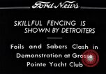 Image of Fencing Detroit Michigan USA, 1934, second 1 stock footage video 65675038947