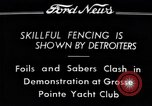 Image of Fencing Detroit Michigan USA, 1934, second 3 stock footage video 65675038947
