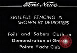 Image of Fencing Detroit Michigan USA, 1934, second 4 stock footage video 65675038947