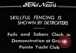 Image of Fencing Detroit Michigan USA, 1934, second 5 stock footage video 65675038947