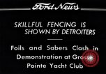 Image of Fencing Detroit Michigan USA, 1934, second 7 stock footage video 65675038947