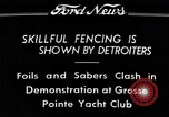 Image of Fencing Detroit Michigan USA, 1934, second 9 stock footage video 65675038947