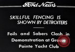 Image of Fencing Detroit Michigan USA, 1934, second 10 stock footage video 65675038947