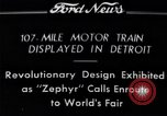 Image of Burlington Zephyr Train Detroit Michigan USA, 1934, second 1 stock footage video 65675038948