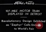 Image of Burlington Zephyr Train Detroit Michigan USA, 1934, second 7 stock footage video 65675038948