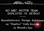 Image of Burlington Zephyr Train Detroit Michigan USA, 1934, second 9 stock footage video 65675038948