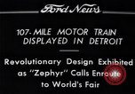 Image of Burlington Zephyr Train Detroit Michigan USA, 1934, second 11 stock footage video 65675038948
