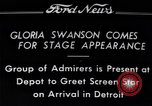 Image of Gloria Swanson Detroit Michigan USA, 1934, second 1 stock footage video 65675038949