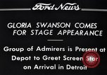 Image of Gloria Swanson Detroit Michigan USA, 1934, second 2 stock footage video 65675038949