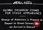 Image of Gloria Swanson Detroit Michigan USA, 1934, second 3 stock footage video 65675038949