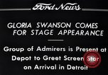 Image of Gloria Swanson Detroit Michigan USA, 1934, second 4 stock footage video 65675038949