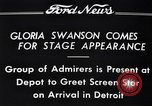 Image of Gloria Swanson Detroit Michigan USA, 1934, second 5 stock footage video 65675038949