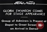 Image of Gloria Swanson Detroit Michigan USA, 1934, second 6 stock footage video 65675038949