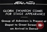 Image of Gloria Swanson Detroit Michigan USA, 1934, second 7 stock footage video 65675038949