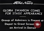 Image of Gloria Swanson Detroit Michigan USA, 1934, second 8 stock footage video 65675038949
