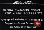 Image of Gloria Swanson Detroit Michigan USA, 1934, second 9 stock footage video 65675038949
