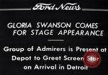 Image of Gloria Swanson Detroit Michigan USA, 1934, second 10 stock footage video 65675038949