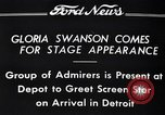 Image of Gloria Swanson Detroit Michigan USA, 1934, second 11 stock footage video 65675038949