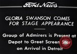 Image of Gloria Swanson Detroit Michigan USA, 1934, second 12 stock footage video 65675038949