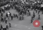 Image of crowd marching New York United States USA, 1933, second 1 stock footage video 65675038955