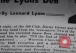 Image of Jimmy Dorsey New York United States USA, 1946, second 3 stock footage video 65675038956