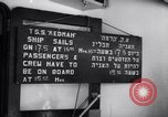 Image of passenger ship Kedmah Marseilles France, 1948, second 9 stock footage video 65675038959