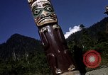 Image of totem poles Alaska USA, 1960, second 6 stock footage video 65675038983