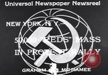 Image of Communist Parade New York United States USA, 1939, second 7 stock footage video 65675038985