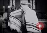 Image of Jewish prayers at synagogue Tel Aviv Palestine, 1945, second 8 stock footage video 65675038996