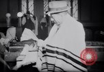 Image of Jewish prayers at synagogue Tel Aviv Palestine, 1945, second 10 stock footage video 65675038996