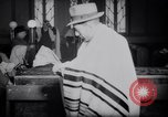 Image of Jewish prayers at synagogue Tel Aviv Palestine, 1945, second 12 stock footage video 65675038996