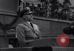 Image of Nazi Sturmabteilung leader addresses gathering for fallen soldiers Germany, 1933, second 3 stock footage video 65675039017