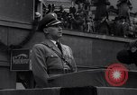 Image of Nazi Sturmabteilung leader addresses gathering for fallen soldiers Germany, 1933, second 4 stock footage video 65675039017